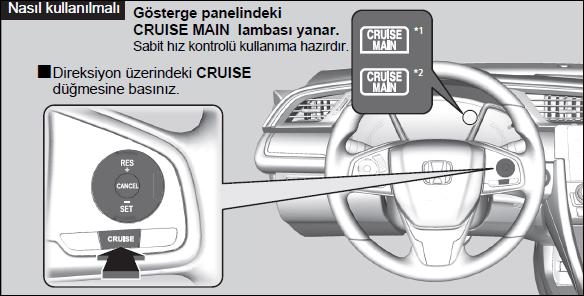 Cruise Control nasıl kullanılır?